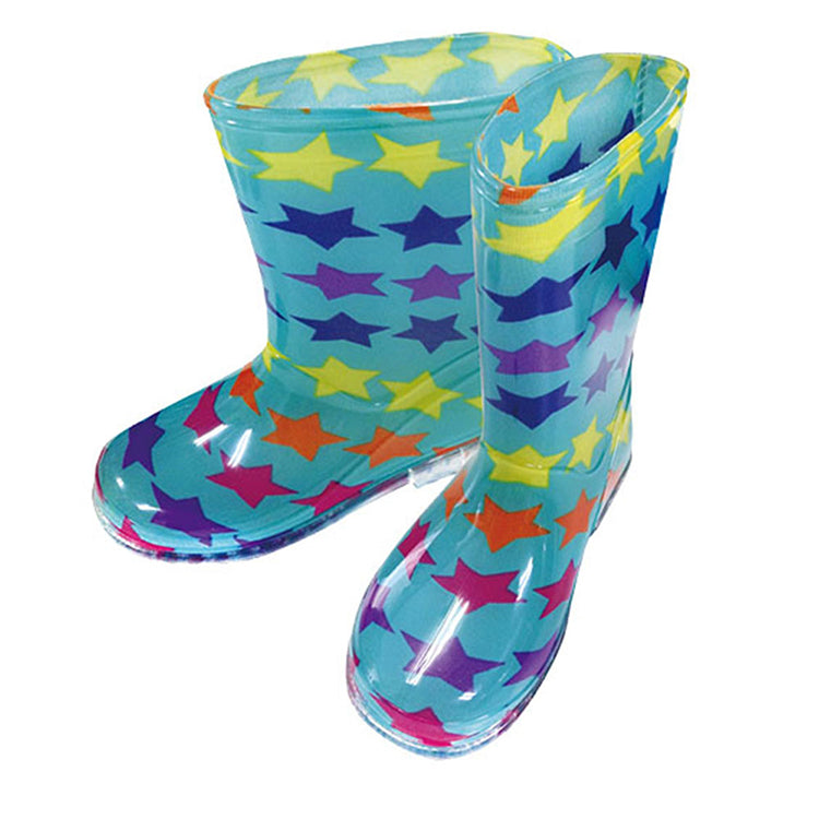 Kids rain boots 18cm Rainbow Star mint