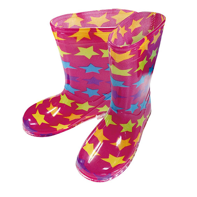 Kids rain boots 18cm Rainbow Star Rose