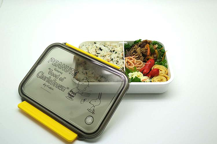 cf767b7b3a33 Osk Peanuts & Snoopy Children'S Lunch Box Tupperware With 2 Compartments -  800ml