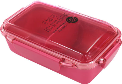Dish Up Lunch 4-Point Locking Lunch Box (With Partition) Hot Pink Pcd-500
