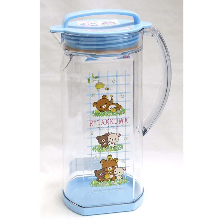 Osk Rilakkuma Water Jug With Rubber Lid - 1.2L
