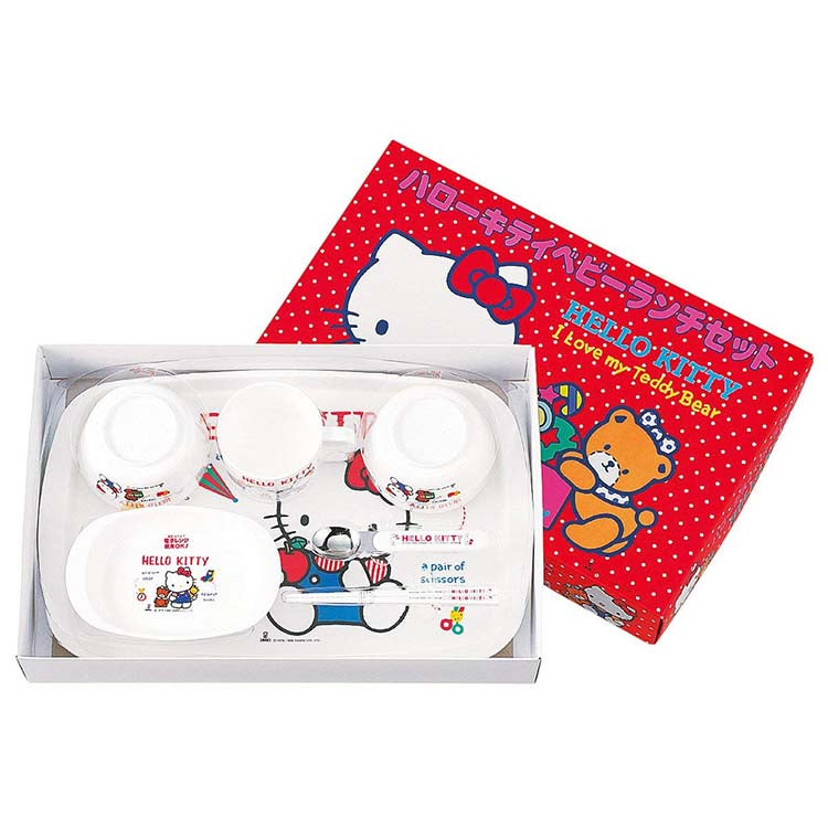 Osk Hello Kitty Children'S Tableware Set - Plates, Bowls, Mug, Cutlery
