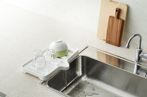 Liberalista Water Drainage Tray White - 38.4 x 23.6 x 3.5cm