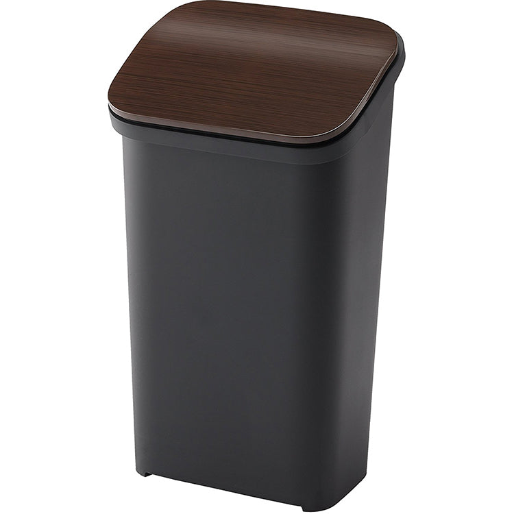 Slim Smooth-Closing Push Lock Bin 20L - Wood