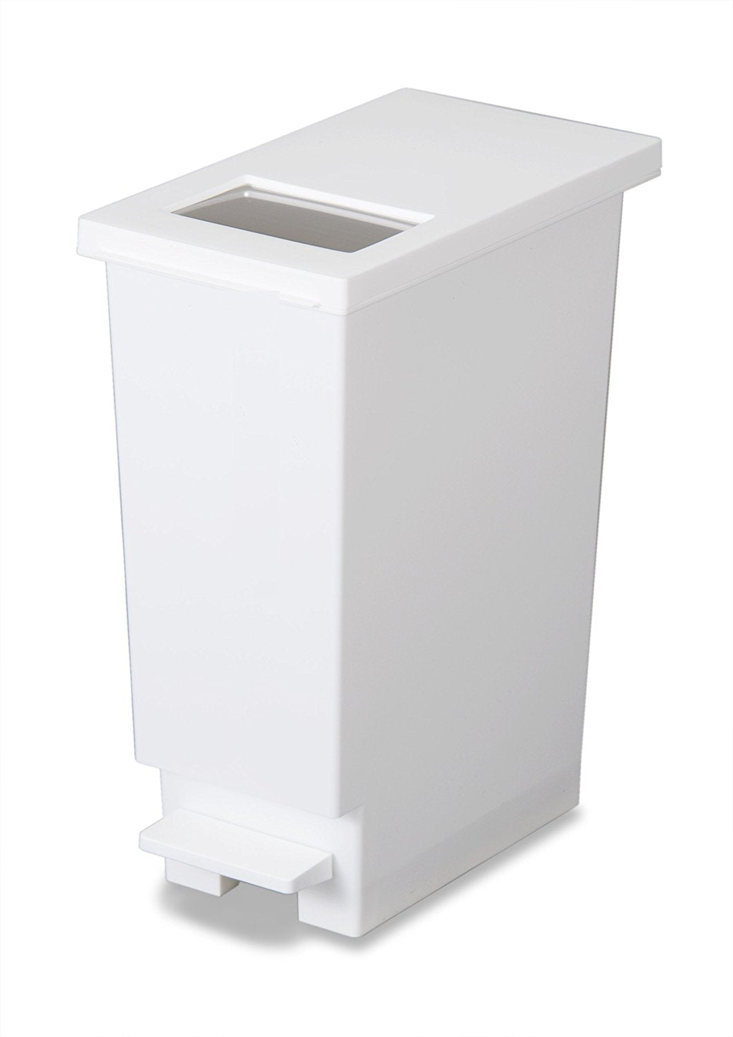 Yunido 2-way Push and Pedal Step Bin 20l - White