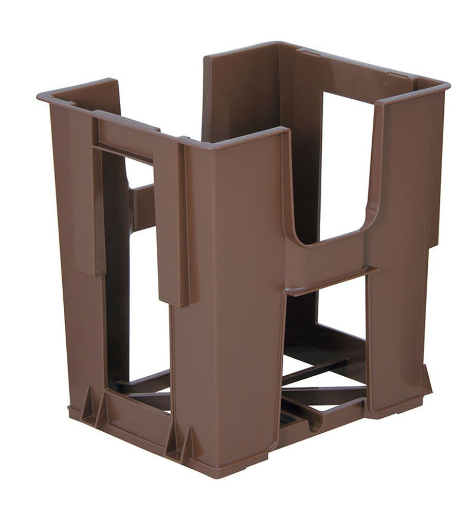 Brown Newspaper Stacker - 36.5 x 28.5 x 36.5cm