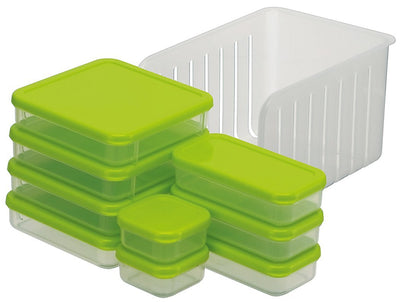 Refrigerated Storage Container 10-Piece Set Green Frozen Refrigerated Seal Container Set Ccbs2