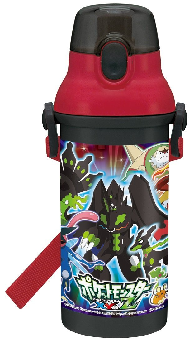 Straight Drinking Water Bottle Plastic One-Touch Bottle 480ml Pokemon Xy & Z Pokemon Psb5san