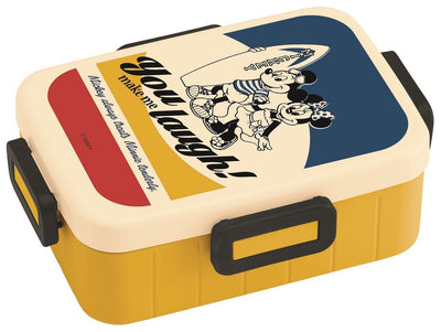 4-Point Lock Lunch Box 650ml Lunch Box Disney Vintage Sports Mickey Mouse Minnie Mouse Yzfl7