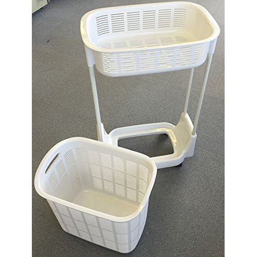 Two Tier Laundry Rack with Basket