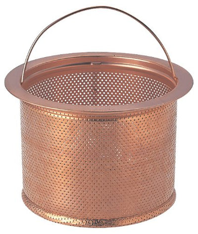 """Clean-To-Use Receiving Waste Water Outlet In The Copper"" Sink Drain Plug Cage Deep Copper Large Ph6501af-2-L"