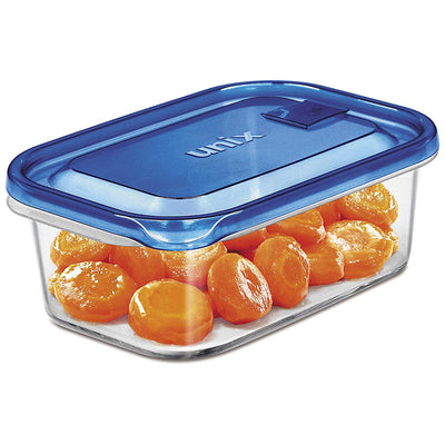 Easy Food Storage Set Microwave Container Rectangle-Shape L 3-Pieces Included