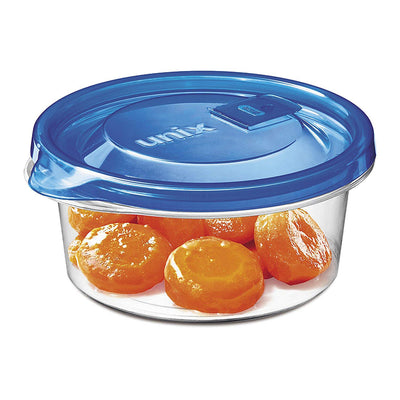 Unix Ware Round Microwavable Food Container 400ml - 4 sets