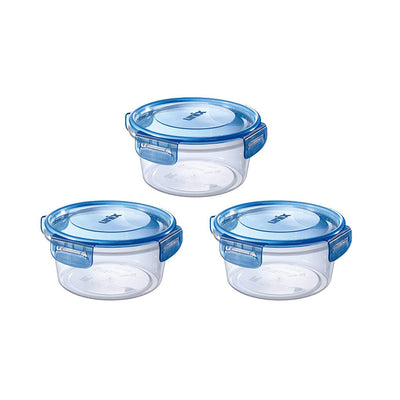 Tight Lock Food Storage Container Round-Type M 3-Pieces Included