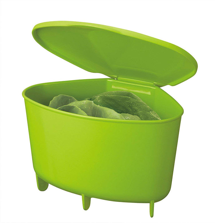 Posé Corner Bin With Lid - Green