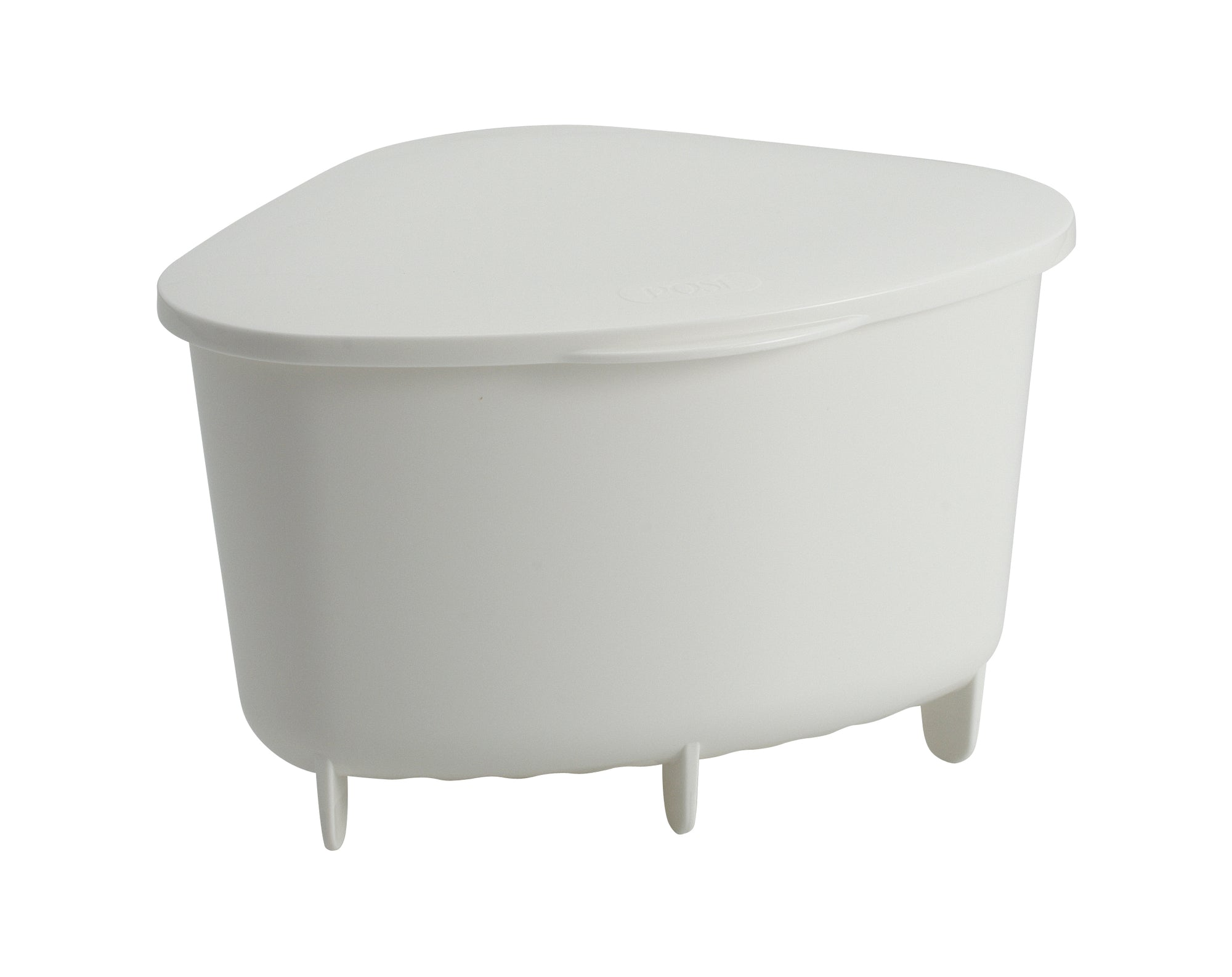 Posé Corner Bin With Lid - White