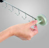 Stainless Steel 5-Row Hooks Lever-Type With Suction Pad Silver 7063
