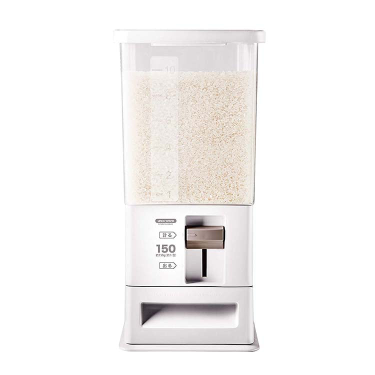 Unix Ware Precision Rice Dispenser W/ See Through Storage 12Kg