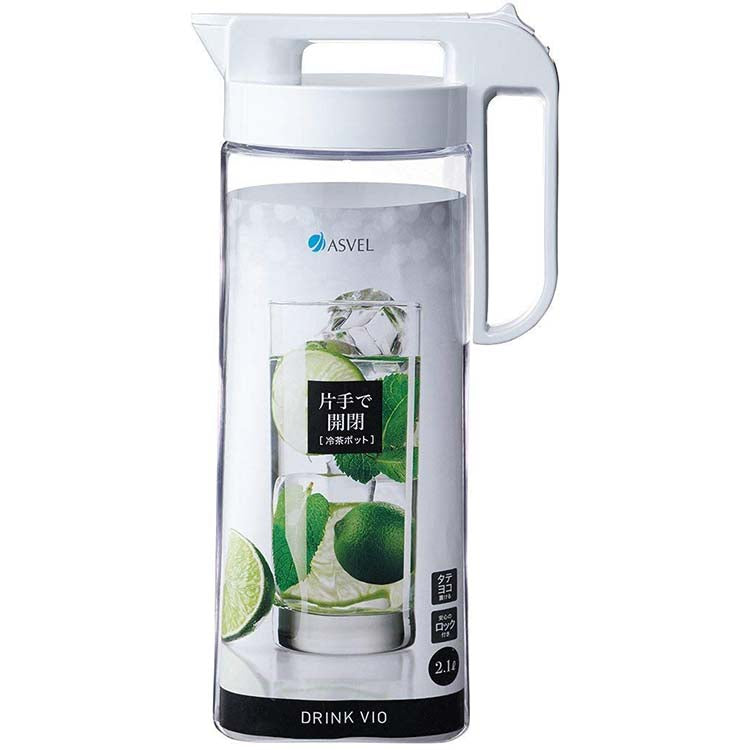 Drink Vio Airtight Water Pitcher with Locking Spout 2.1L