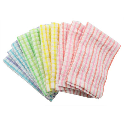 Photo of the NAKAMURA Assorted Color 100% cotton Soft Cloth Rag - 10pc