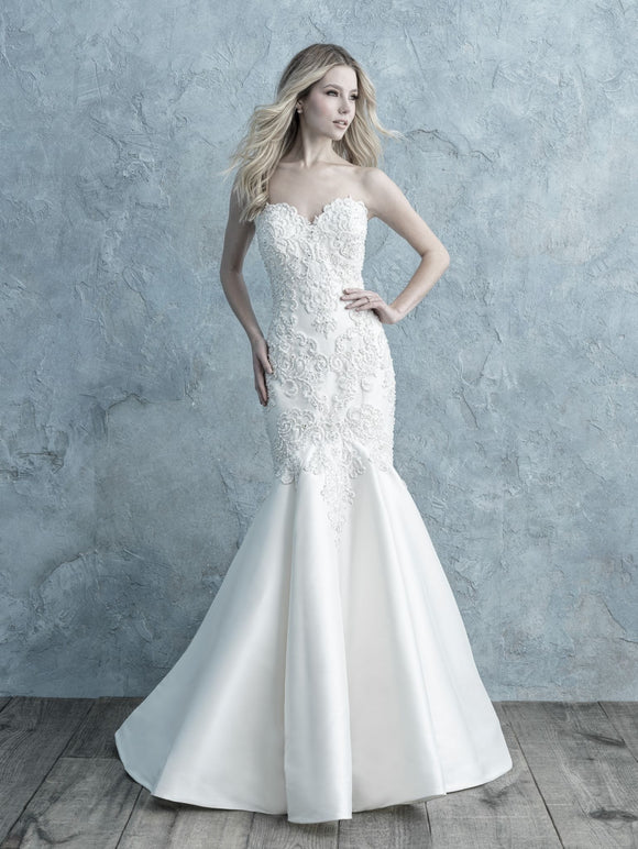 Allure Bridals 9673 | Mikado Strapless Wedding Dress