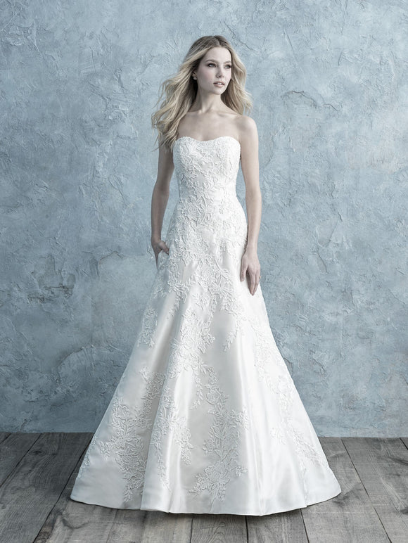 Allure Bridals 9675 | Mikado A-Line Wedding Dress