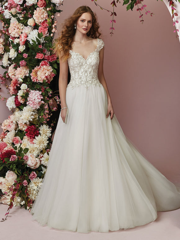 Rebecca Ingram | Cap Sleeve Princess Wedding Dress