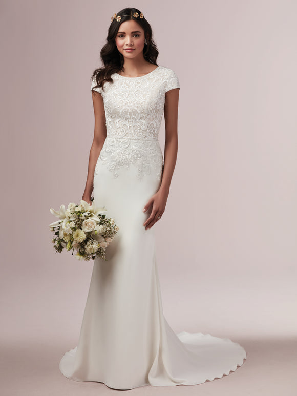 Rebecca Ingram Daniella | Modest Sheath Wedding Dress