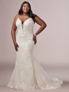 Rebecca Ingram Laurette Lynette | Plus Size Sheath Wedding Dress