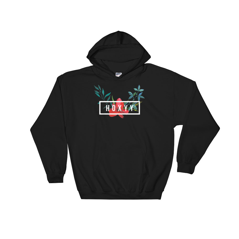 Hibiscus Box Logo Hoodie - Enhanced Body