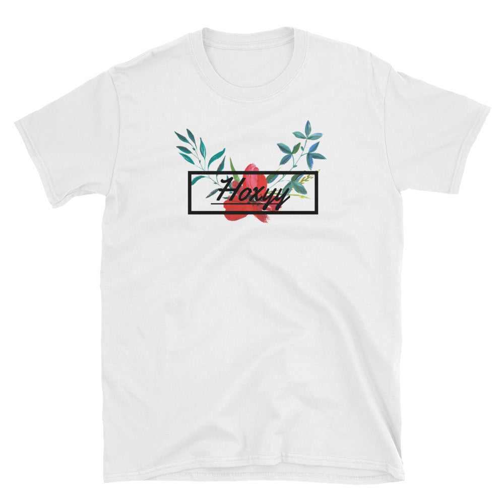 Hibiscus Cursive Box Logo Tee - Enhanced Body