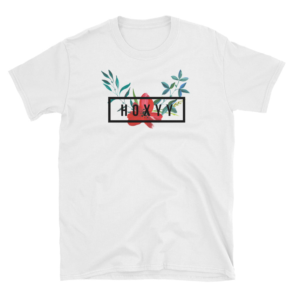 Hibiscus Box Logo Tee - Enhanced Body