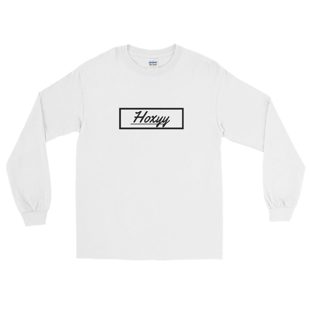 Cursive Box Logo Long Sleeve Tee - Enhanced Body