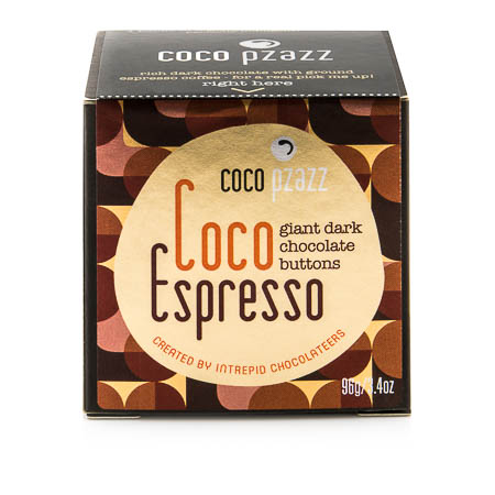 Giant Dark Chocolate Buttons – Coco Espresso 96g