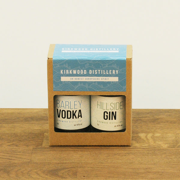 Hillside Gin & Barley Vodka Twin Pack, 2 x 50ml, 46% Vol.