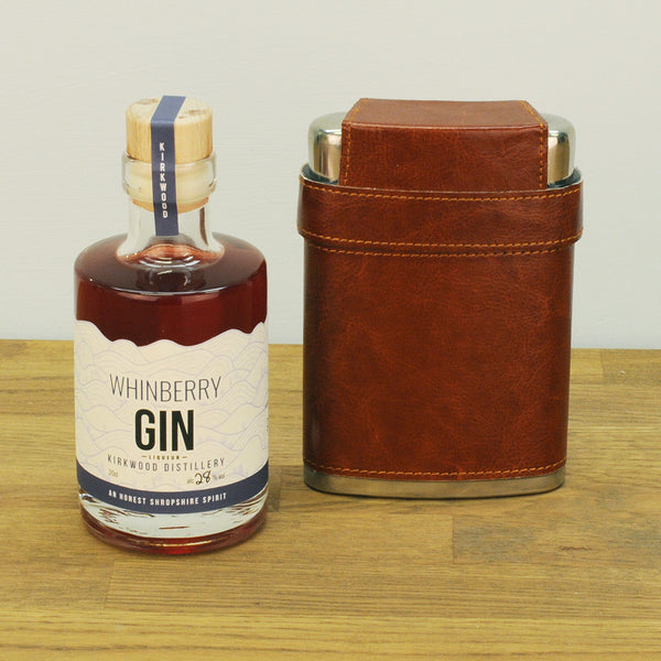Whinberry Gin & Hip Flask Gift Set