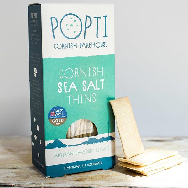CORNISH SEA SALT SAVOURY THINS, 120g