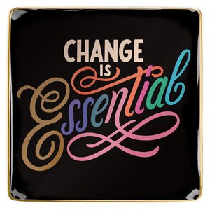 Change Is Essential Porcelain Tray - Let's Talk Coaching