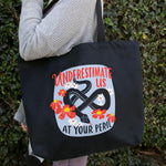 Load image into Gallery viewer, Underestimate Us Tote Bag - Let's Talk Coaching