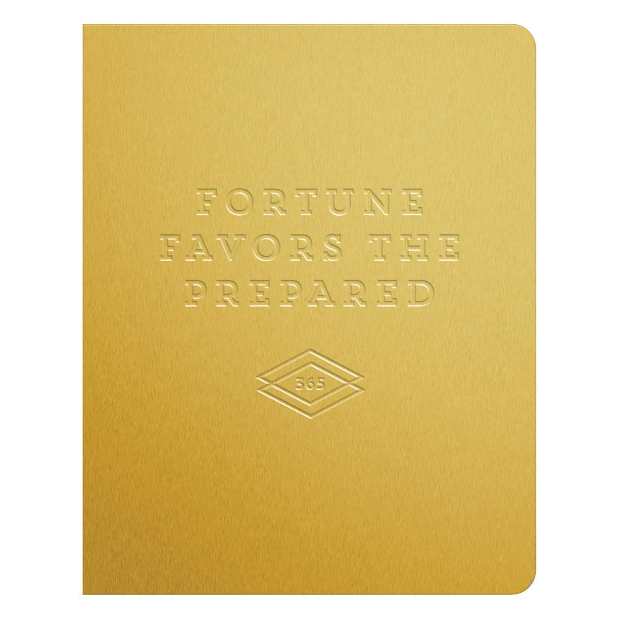 Fortune Favors the Prepared Gold Deluxe Pocket Undated Planner - Let's Talk Coaching