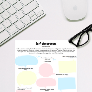 Self Awareness Assessment - A4 Printable - Let's Talk Coaching
