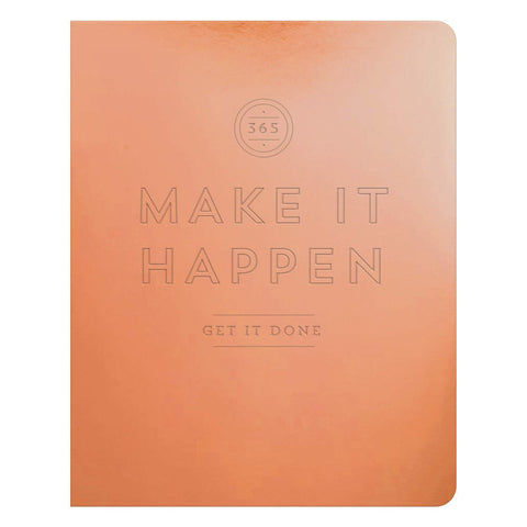 Make It Happen Copper Deluxe Pocket Undated Planner - Let's Talk Coaching