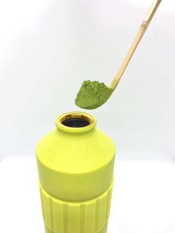Ceremonial grade Matcha from Uji for iced green tea matcha latte