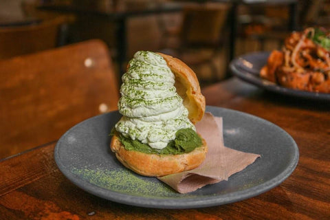 Cafe Kentaro Matcha Cream Puff matcha cafe sydney
