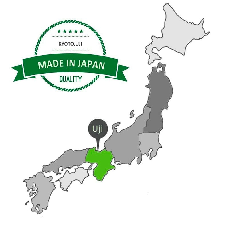 Map of Uji region in Japan