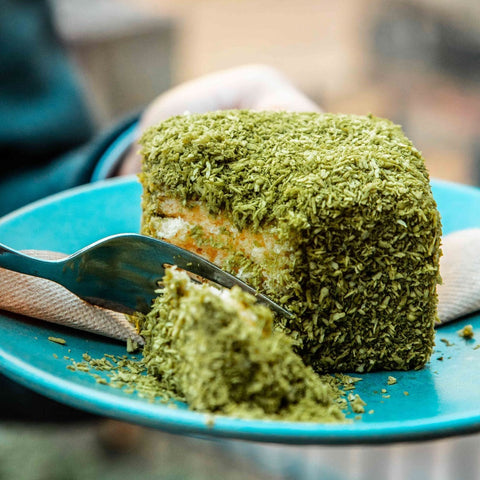 Cafe Oratnek matcha lamingtons