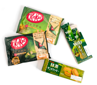 matcha chocolate matcha kitkat matcha pocky sticks matcha cream biscuits