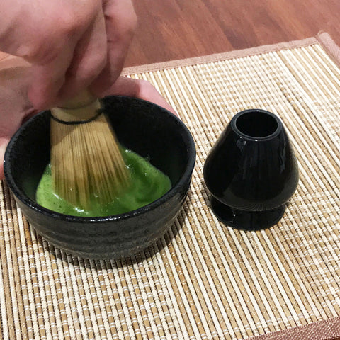 Whisk matcha for longer to dissolve
