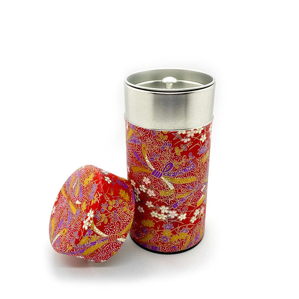 HANA Japanese Washi Paper wrapped tea caddy for tea storage