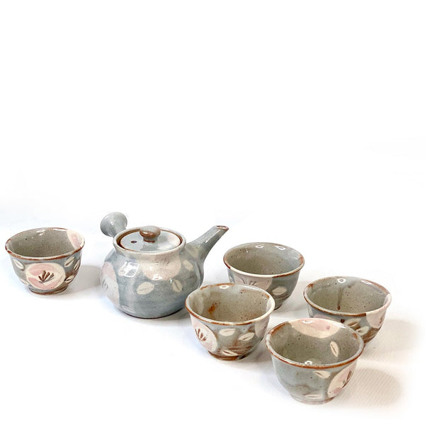 shino glazed 6 piece japanese green tea set australia